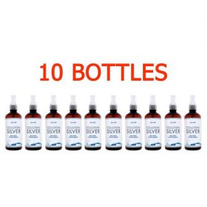 Colloidal Silver Water, 10 bottles x 450 ml, 15ppm