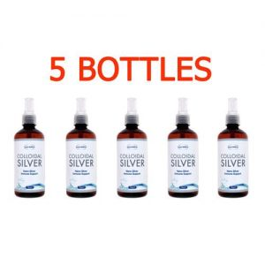 Colloidal Silver Water, 5 bottles x 450 ml, 15ppm
